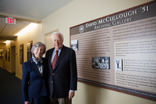 David McCullough '51 Archival Gallery, Pittsburgh Pennsylvania Shady Side Academy