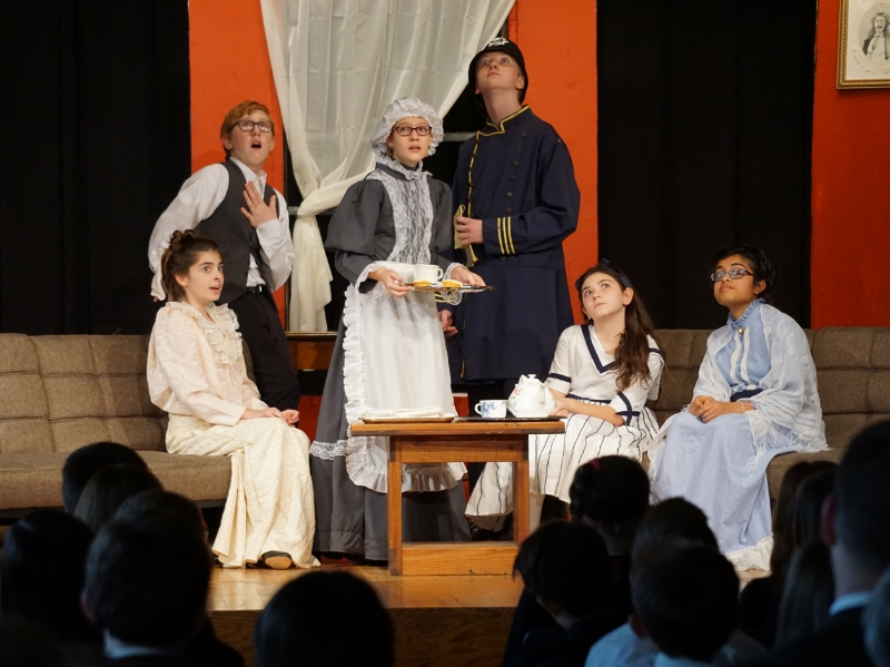 Shady Side Academy Middle School Drama Students Acting in a Play
