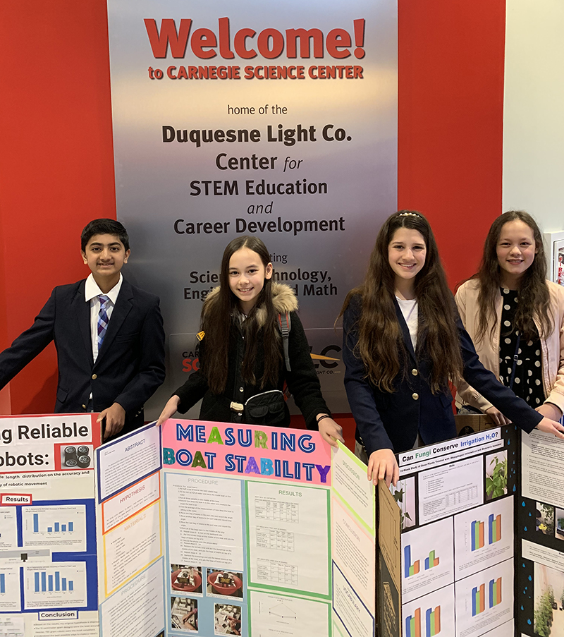 Middle School students at 2019 PRSEF
