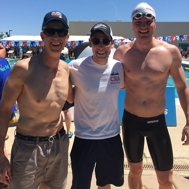 Landreth, Weis and Scheid at the USMS Championships
