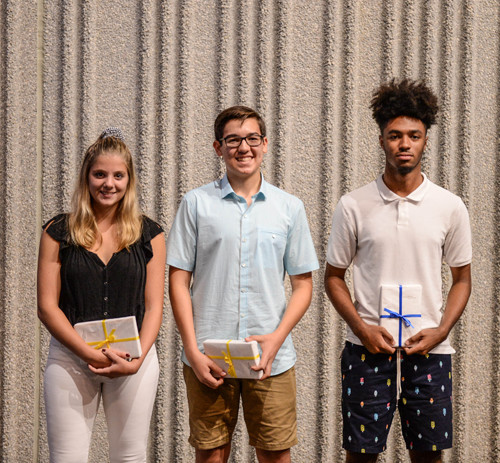 Cayden Leavy, Zoe Conomikes, and Eliseo Salazar were awarded the 2017-18 John H. Cohen Family Award.