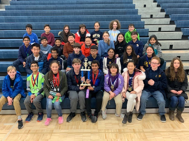 Middle School Science Olympiad Team at Solon Invitational