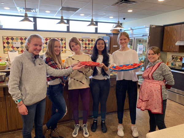 Senior School Service Learning Club students atthe Ronald McDonald House