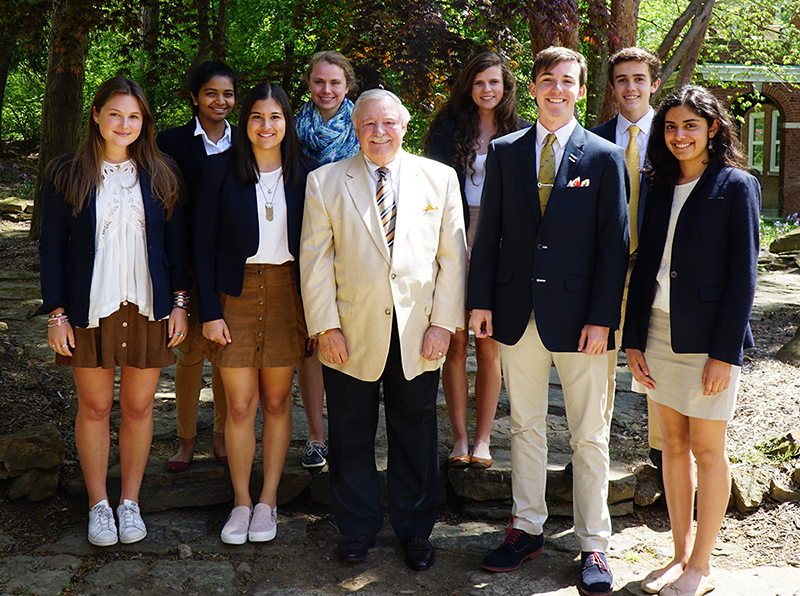 Parkin Fellows with Fred Parkin '59