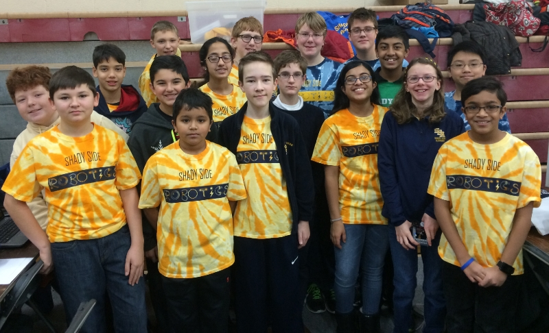 Middle School Robotics Team from Pittsburgh's Shady Side Academy